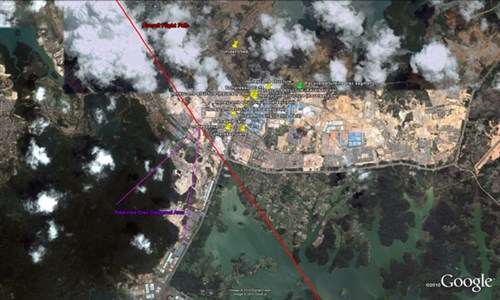 Search area of interest on Batam Island