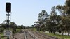 Signal and track at Junee, NSW