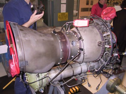 Arrial 1S1 engine, serial number 15038, as removed from the aircraft.