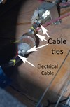 Figure 1: Use of cable ties to connect fuel lines