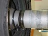 Figure 9: LP turbine shaft showing evidence of contact with IP shaft