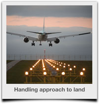 Handling the approach to land