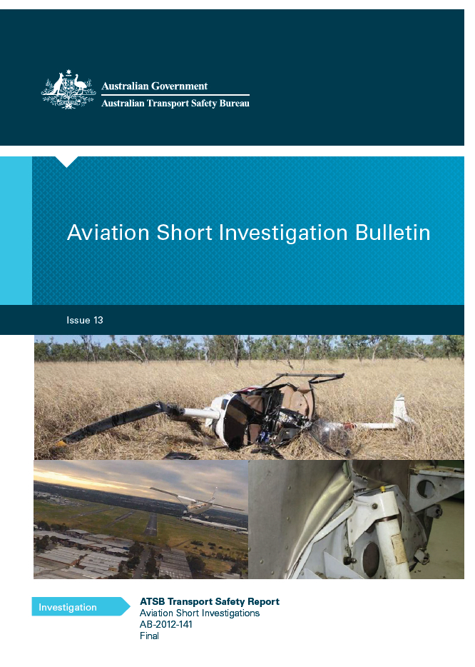 Download complete document - Download PDF of Aviation Short Investigation Bulletin - Issue 13