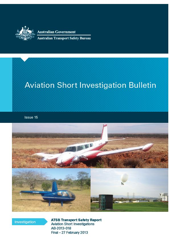 Download complete document - Aviation Short Investigation Bulletin - Issue 15