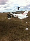 Accident site of VH-JGR, near Kagaru, Qld