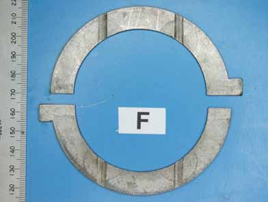 Figure 12. Undamaged running surfaces of the forward bearing set