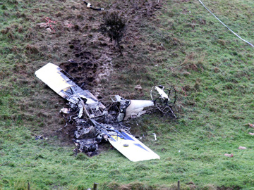 Accident site of VH-GWS at Hallston Victoria