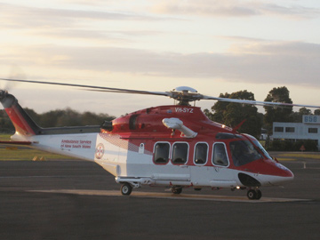 Ambulance Service of New South Wales rescue helicopter