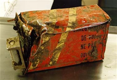 Damaged Cockpit Voice Recorder