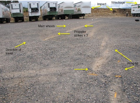Ground Impact Marks