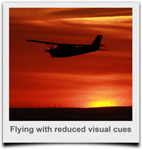 Flying with reduced visual cues