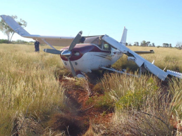 Accident site of Cessna C206, VH-YOT. Source: WA Police Force