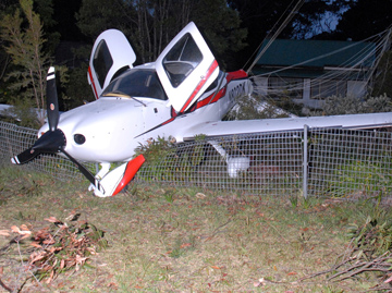 Accident site of Cirrus SR22 N802DK. Source: NSW Police Force