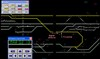 Figure 4: Phoenix train control system display. Trackage and track gauges - Dynon area. Source: ARTC: annotated, and with colour enhancement by Chief Investigator, Transport Safety (Victoria)