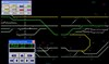 Figure 5: Phoenix train control system display with multi-gauge route selected. Source: ARTC: colour enhancement by Chief Investigator, Transport Safety (Victoria).