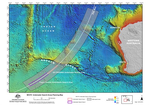Underwater Search Areas 14 Jan 2015