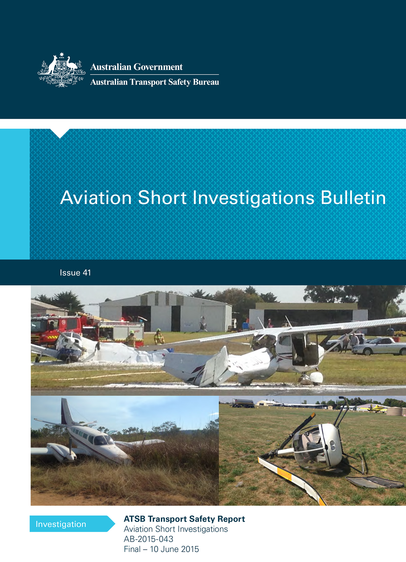 Download complete document - Aviation Short Investigations Bulletin - Issue 41