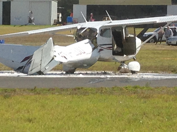 Collision on the ground involving a Piper PA-28, VH-TXH and a Cessna 172, VH-EUU Moorabbin Airport, Victoria