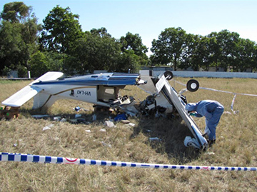 Accident site of the Piper Saratoga near Moree NSW. Source: ATSB