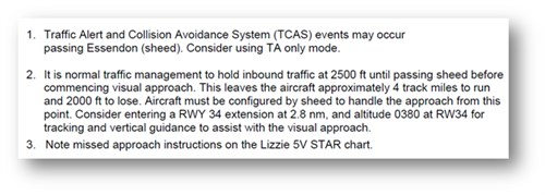 Figure 7: Presentation of information regarding the visual approach via SHEED in the operator's Instructor Guide for refresher training