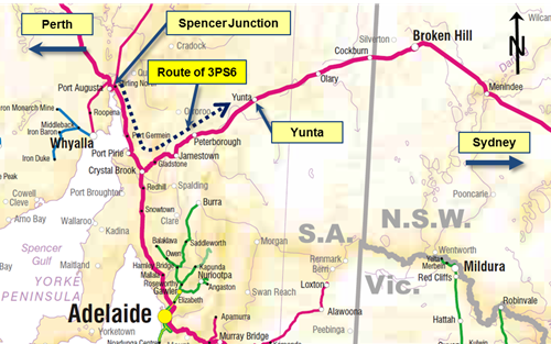 Figure 1: Location of Yunta and route of 3PS6