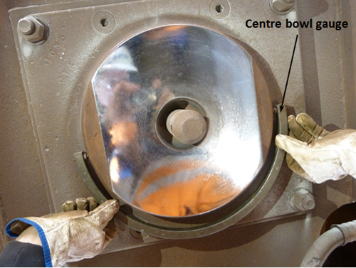 Figure 3: Gauging of centre bowl, wagon WOE33548K