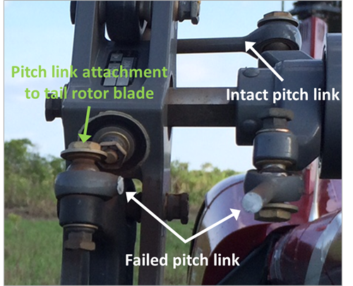 Figure 1: Failed tail rotor pitch link