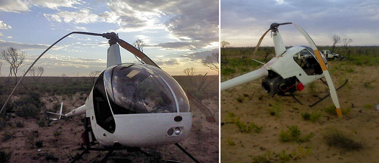 Figure 1: Helicopter damage