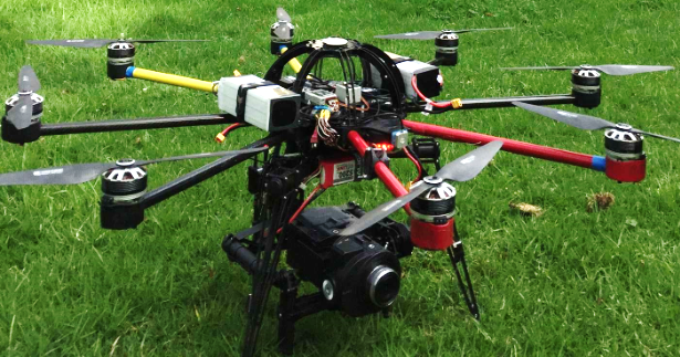Figure 1: RPA prepared for flight with camera mounted beneath