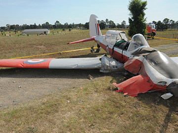 Accident site of a de Havilland Canada DHC-1, Chipmunk
