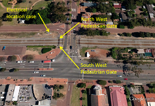 Figure 1: Location map – Meadow Street level crossing, Guildford