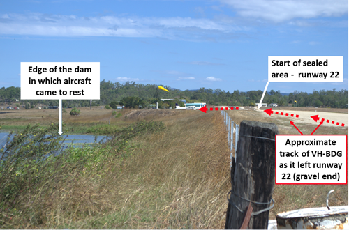 Figure 4: Looking along runway 22 taken a few days after the accident