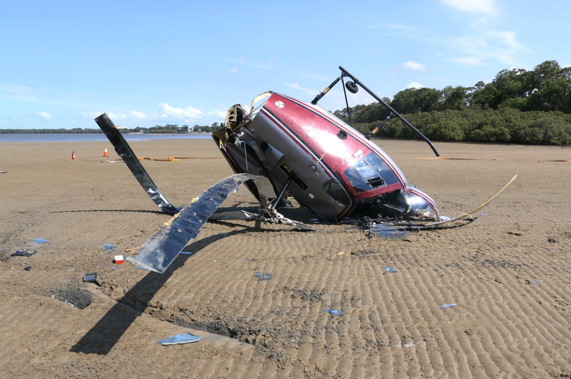 Figure 1: Accident site showing the damage to VH-YHD