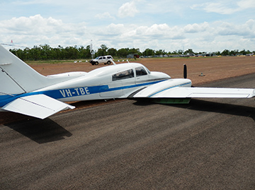 Accident site of Cessna 310 aircraft, registered VH-TBE
