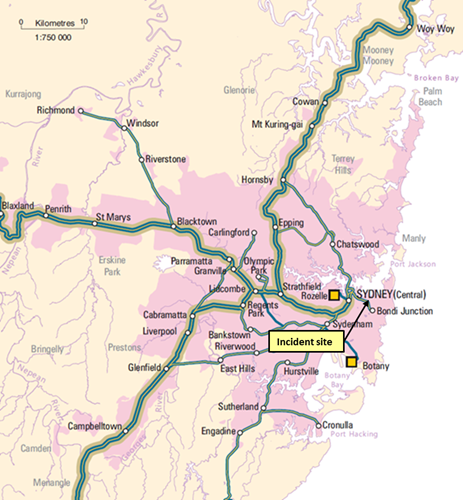 Figure 6: Eastern Suburbs Rail line diagram