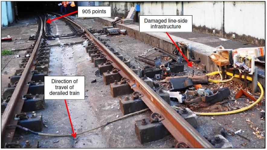 Figure 9: View of Up track between Edgecliff and the derailed train's location