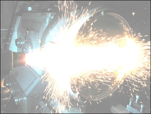 Figure 18: Example of metal spraying process
