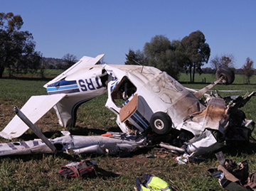 Low-flying accident claims pilot's life