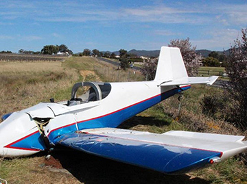 Amateur-built Van's Aircraft RV-6, two-seat aeroplane, registered VH-TXF