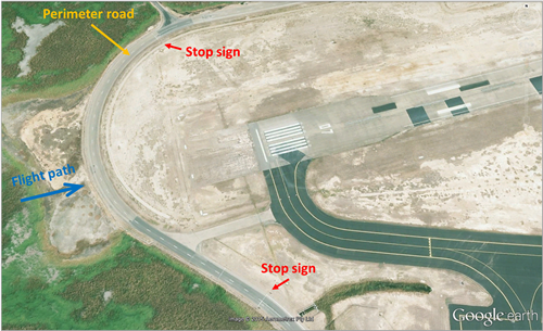 Figure 1: Townsville airport perimeter road near runway 07