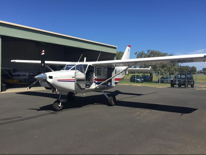 Gippsland Aeronautics GA-8 aircraft, registered VH-FGN. Source. Aircraft operator