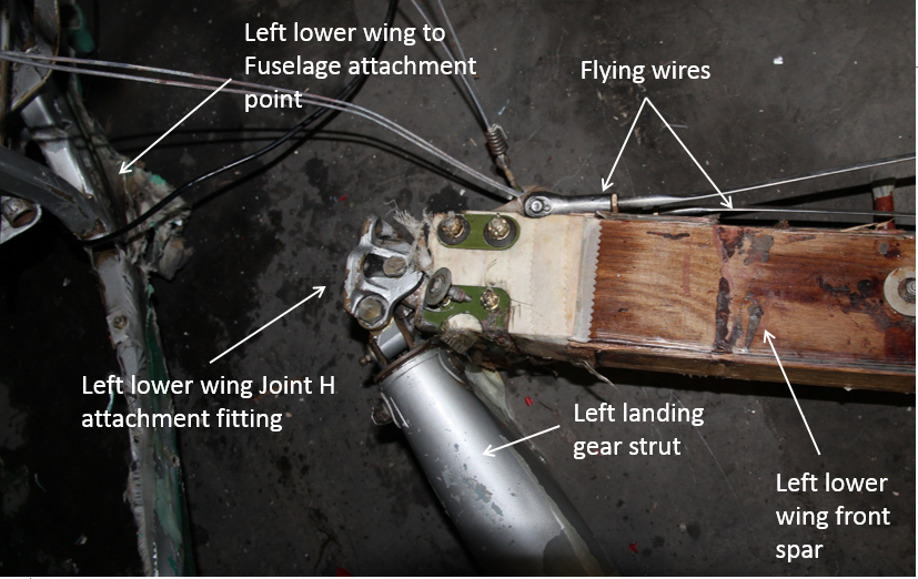 Figure 23: Left lower wing to fuselage attachment