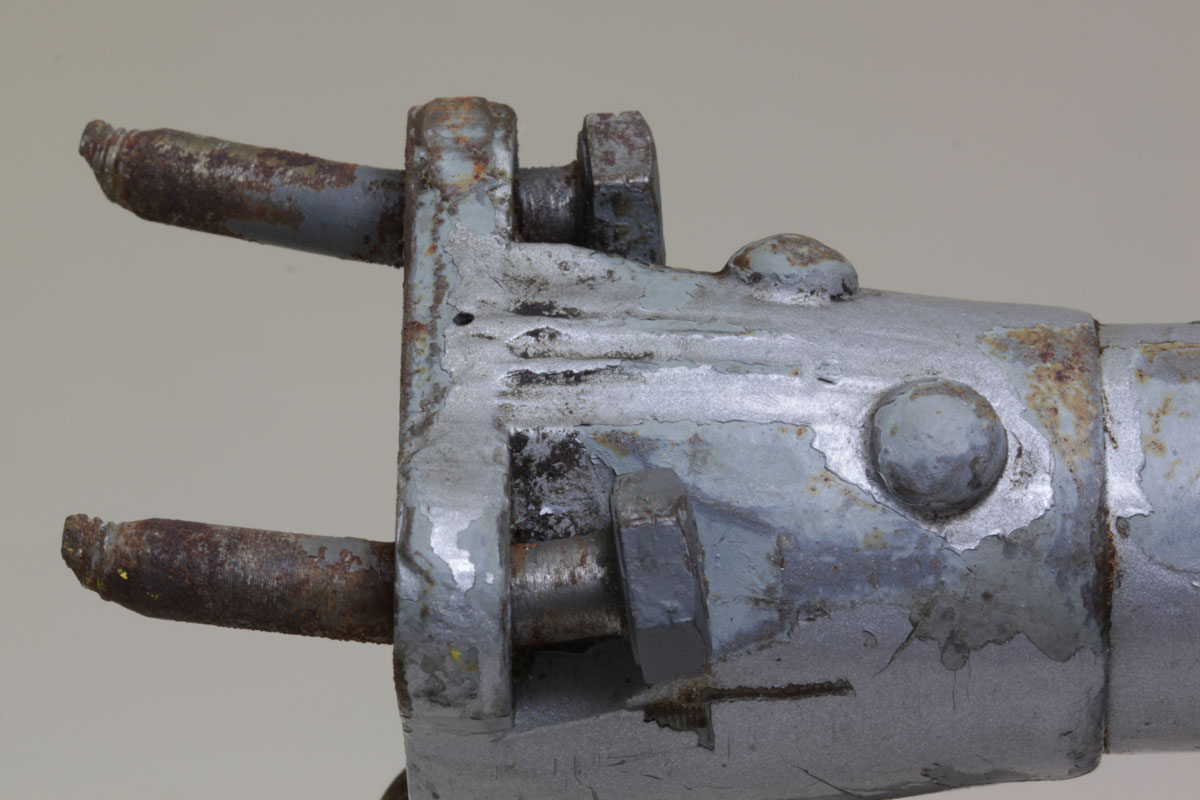 Figure A8: Fractured upper attachment bolts on right side of compression strut
