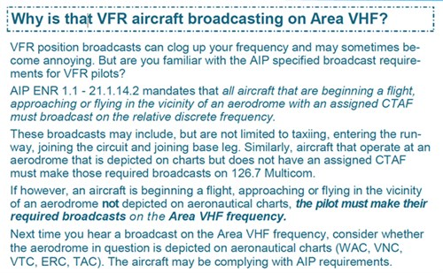 Why is that aircraft broadcasting on ARea VHF?