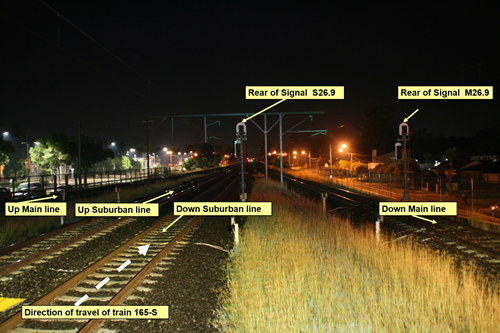 Figure 1: Night time view from Platform 3 (city end). Source: Sydney Trains