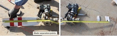 Figure 8: Tail rotor components retained for further examination