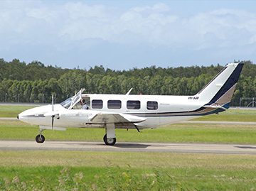 Piper Chieftain aircraft VH-HJH. Source: South East Qld Aviation News