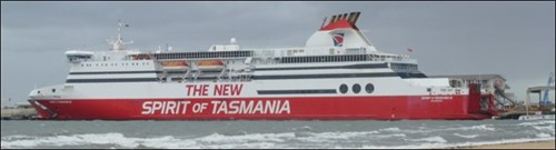 Figure : Spirit of Tasmania II alongside Station Pier after the incident