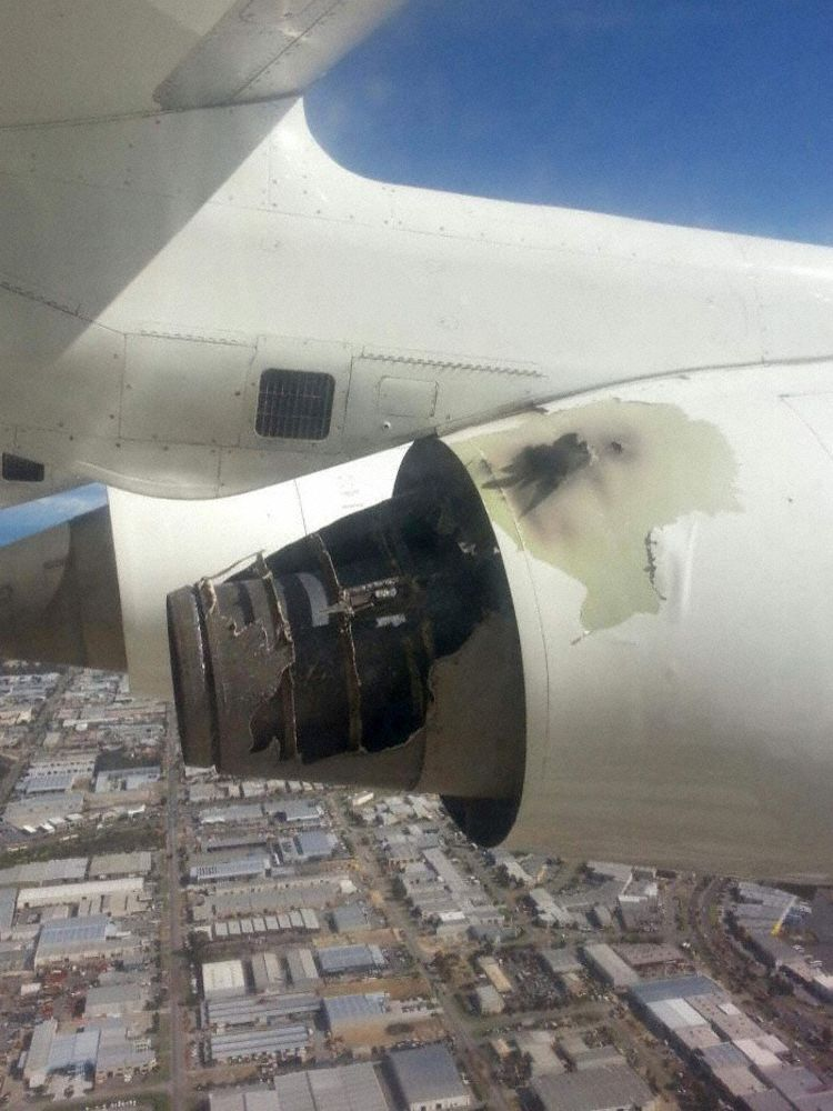 VH-NJI in-flight fire damage