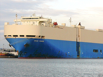 The car carrier Grand Pioneer